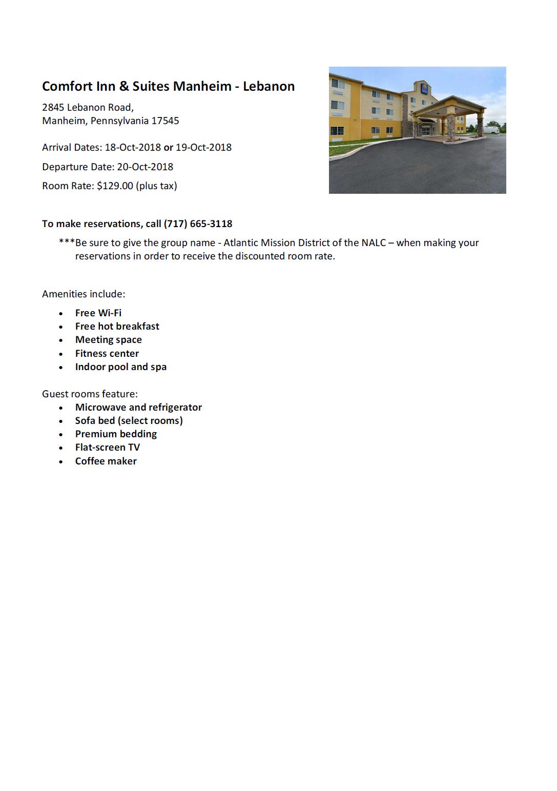 Comfort Inn & Suites Information