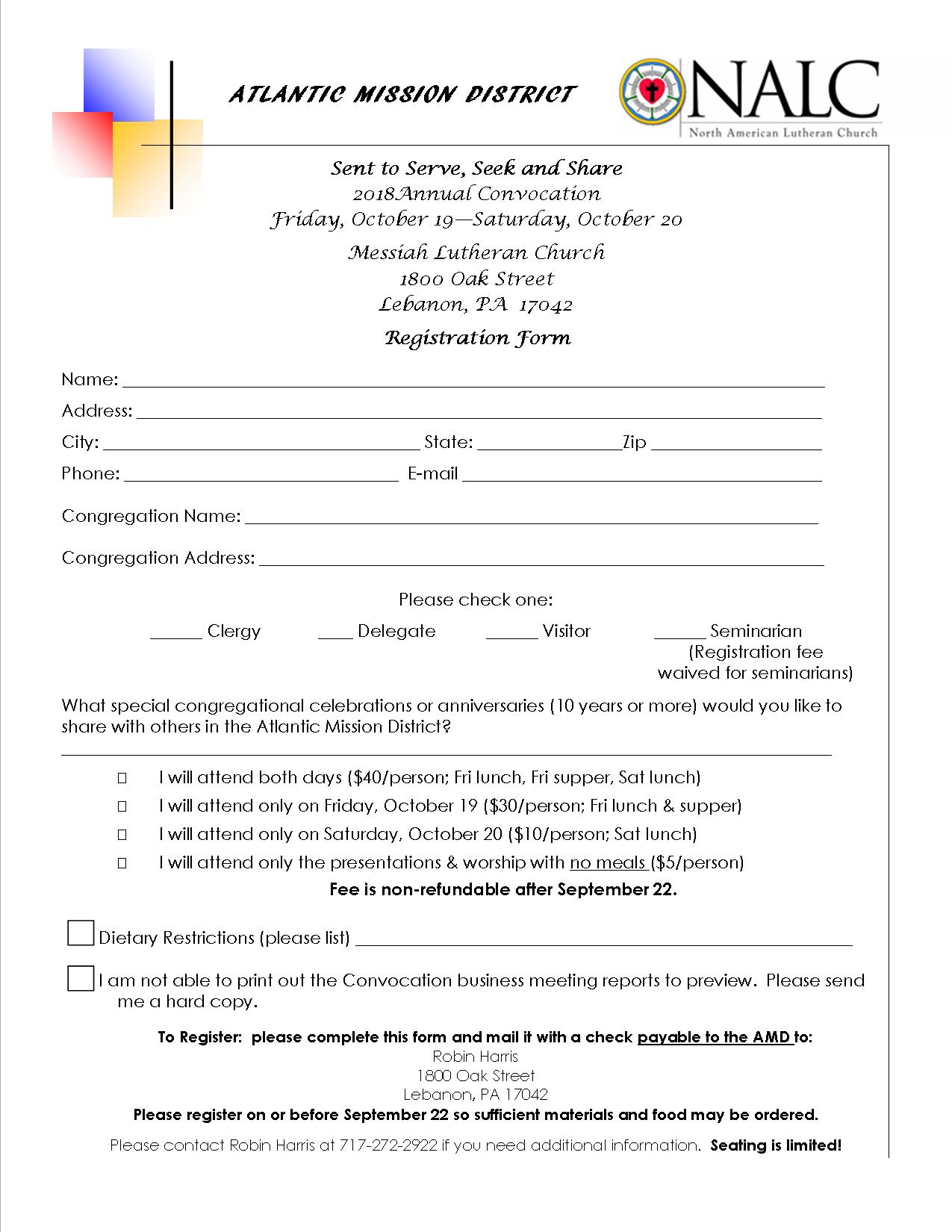 Convocation Registration Form