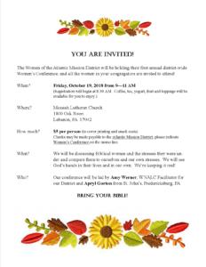 Women's Conference Invitation