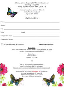Women's Conference registration