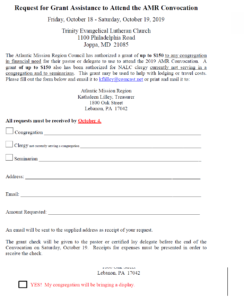 Grant Request Form