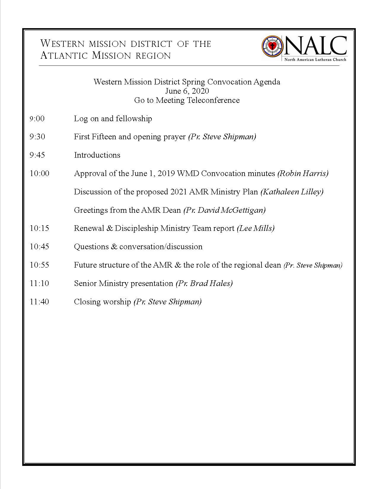 WMC agenda