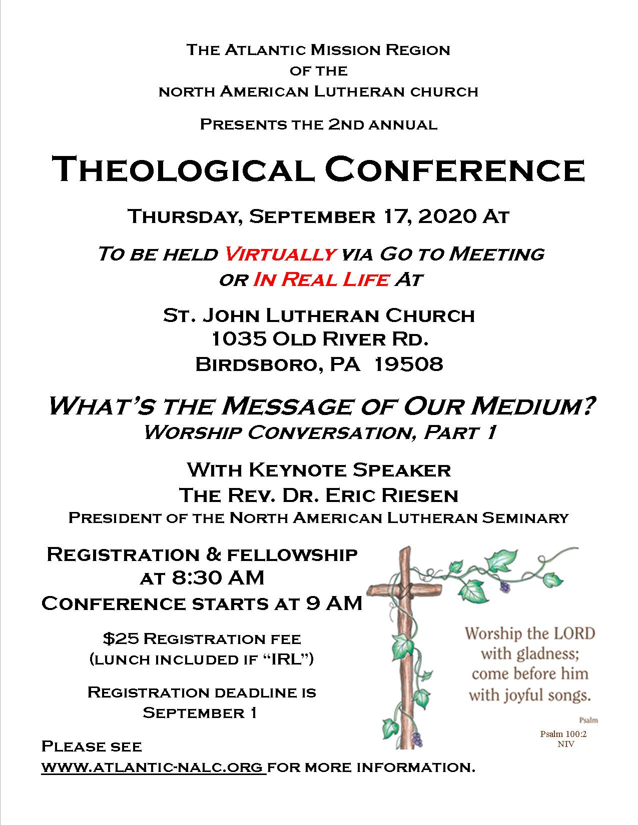 Theological Conference flyer