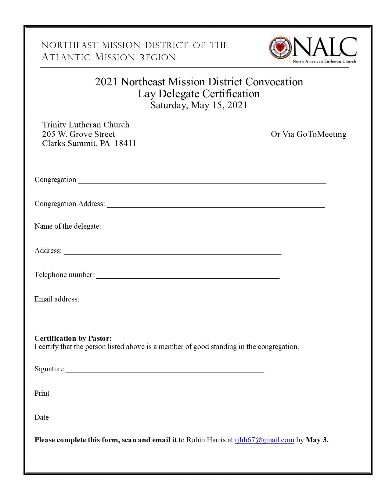 NEMD lay delegate certification