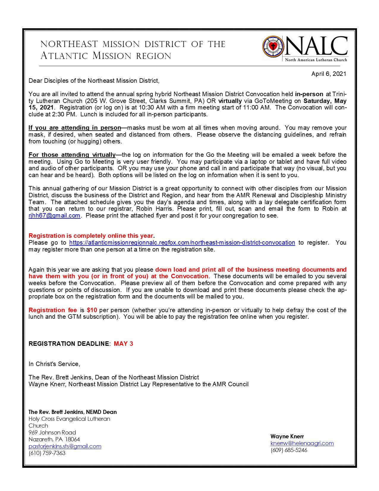 NEMD cover letter